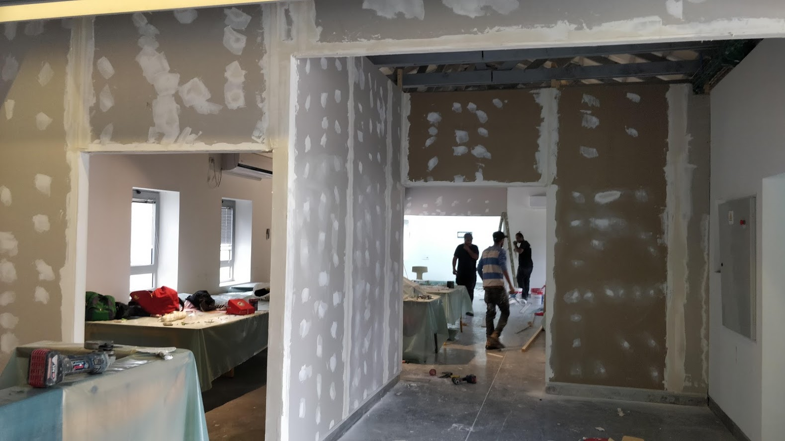 October 23, 2019 – We started renovating and adjusting our space in Spring Valley